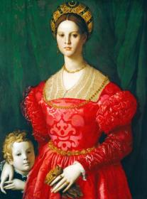 A Young Woman And Her Little Boy Artwork by Agnolo Bronzino