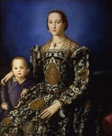 Eleonora Of Toledo With Her Son Giovanni De' Medici Artwork by Agnolo Bronzino