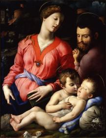 Holy Family Artwork by Agnolo Bronzino