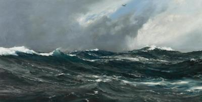 The Submarine Hunter Artwork by Montague Dawson