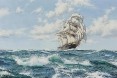 Onward, The Clipper Ship Norman Artwork by Montague Dawson