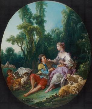 Are They Thinking about the Grape (Pensent-ils au raisin) Artwork by Francois Boucher