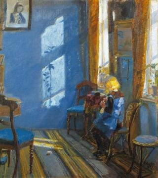 Sunlight In The Blue Room Artwork by Anna Ancher