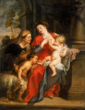 The Virgin and Child with Sts. Elizabeth and John the Baptist Artwork by Peter Paul Rubens