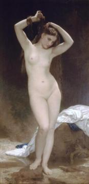 Bather (1870) Artwork by William Adolphe Bouguereau