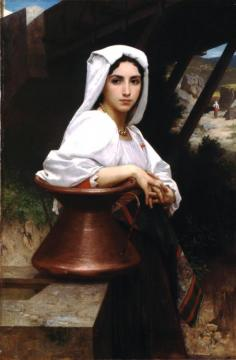 Italian Girl Drawing Water (1871) Artwork by William Adolphe Bouguereau