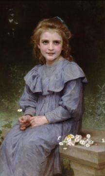 Daisies Artwork by William Adolphe Bouguereau