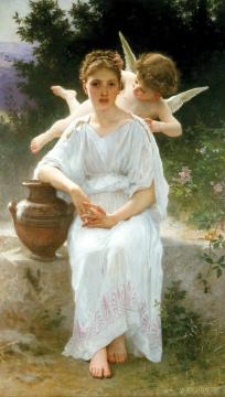Whisperings of Love Artwork by William Adolphe Bouguereau