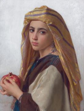 Girl With A Pomegranate Artwork by William Adolphe Bouguereau