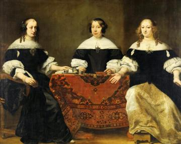 Portrait of the Three Regentesses of the Leprozenhuis, Amsterdam Artwork by Ferdinand Bol