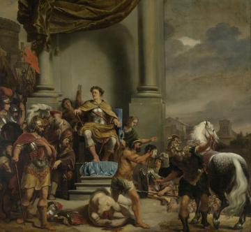 Consul Titus Manlius Torquatus Orders The Beheading Of His Son Artwork by Ferdinand Bol