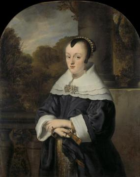 Maria Rey, Wife of Roelof Meulenaer (1630-1703) Artwork by Ferdinand Bol