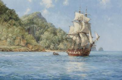 Treasure Island (cocos) Artwork by Montague Dawson