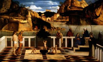 Sacred Allegory Artwork by Giovanni Bellini