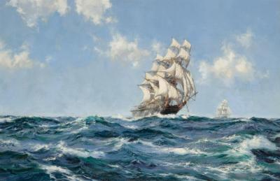 Homeward Bound Artwork by Montague Dawson