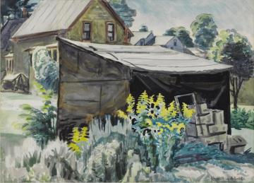 Goldenrod And Shed(1923) Artwork by Charles Burchfield