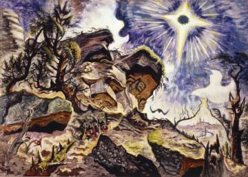 Sun And Rocks Artwork by Charles Burchfield