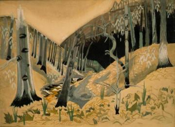 Early Spring Artwork by Charles Burchfield