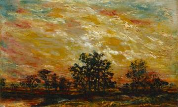 Fire In The Sky Artwork by Ralph Albert Blakelock