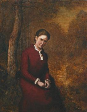 Portrait Of Cora Bailey(ca.1876) Artwork by Ralph Albert Blakelock
