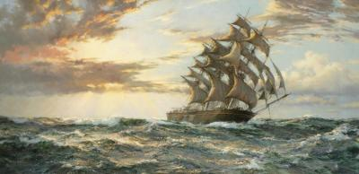 The Clipper Ship Cutty Sark Artwork by Montague Dawson
