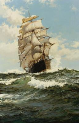 The Oberon Artwork by Montague Dawson