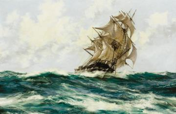 Slashing Wind Artwork by Montague Dawson