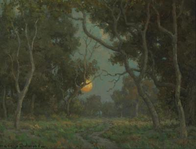Early Moon Artwork by Granville Redmond
