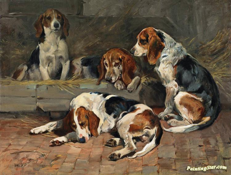 Beagles-fathers Of The Pack Artwork by John Emms