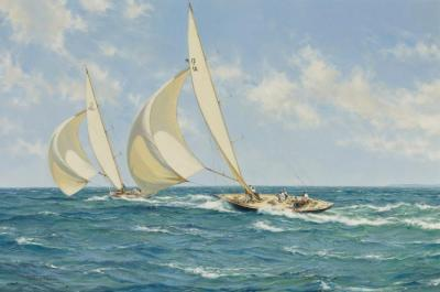 The Sporting Contest Artwork by Montague Dawson
