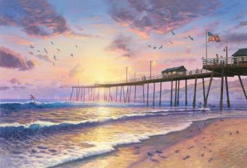 Footprints In The Sand Artwork by Thomas Kinkade
