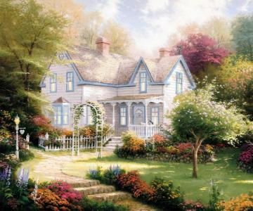 Home Is Where The Heart Is Ii Artwork by Thomas Kinkade