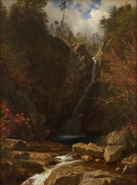 Glen Ellis Falls Artwork by Albert Bierstadt