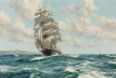 Land Ho! The Clipper Ship North America Artwork by Montague Dawson