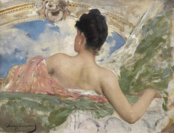 Femme Vue De Dos - Study Of A Ceiling Figure In The OpÉra, Paris Artwork by Benjamin Constant