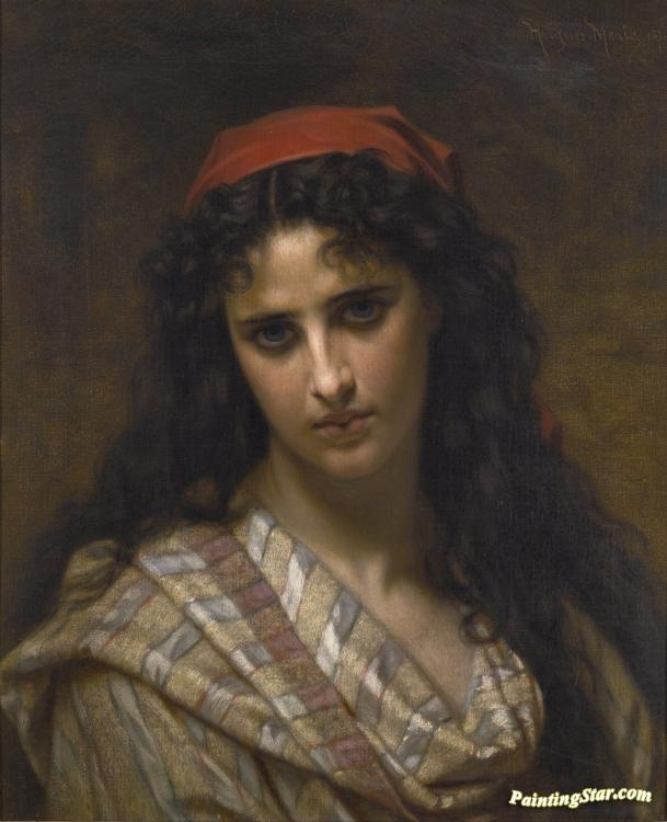 Mary Magdalene in the Cave  by Hughes Merle   Giclee Canvas Print Repro