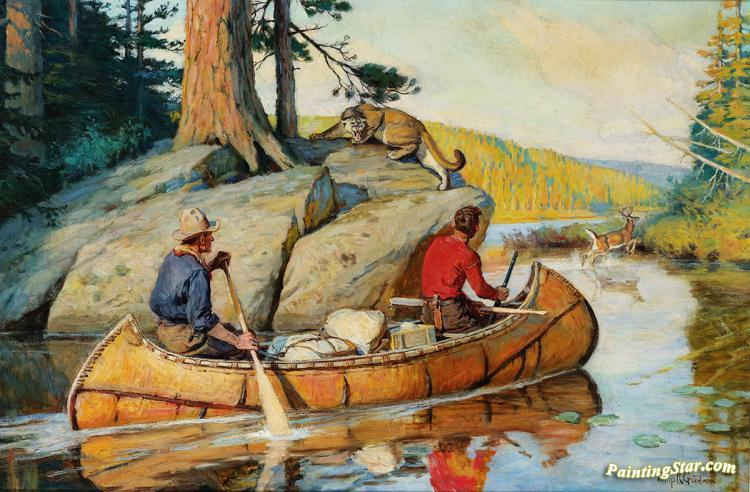 In The Canoe Artwork By Philip R Goodwin