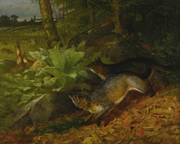 Foxes And Rabbits Artwork by William Holbrook Beard