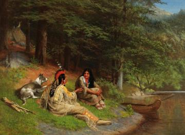 Indian Idyl Artwork by William Holbrook Beard