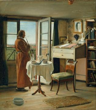 The Actor Kristian Mantzius In His Study Artwork by Carl Heinrich Bloch