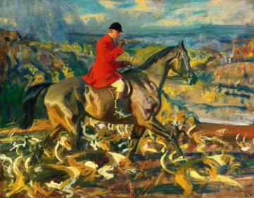 The Huntsman And His Hounds Artwork by Sir Alfred James Munnings