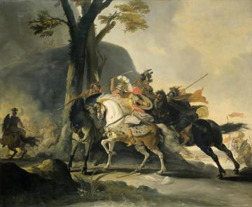 Alexander The Great In The Battle Against The Persians At The Granicus Artwork by Cornelis Troost