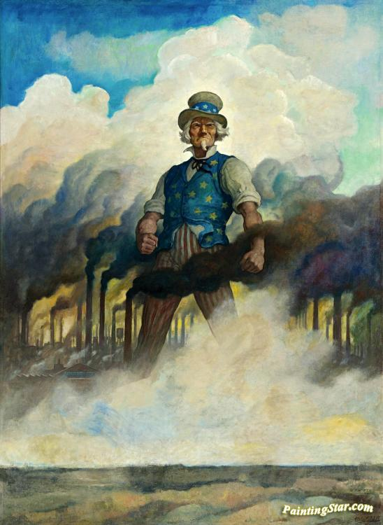 We Re On Our Way Artwork By Newell Convers N C Wyeth