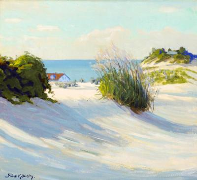 Singing Sands And Tall Grasses Artwork by Frank V. Dudley
