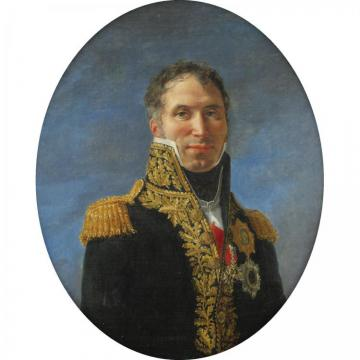 Portrait Of General Claude Carra De Saint-cyr (1756-1834) Artwork by Jacques Louis David
