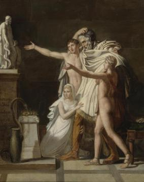 Youth In The Temple Of Zeus Artwork by Jacques Louis David
