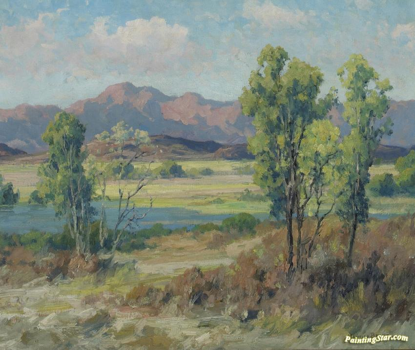 Summer Stream With Distant Mountains Artwork By Maurice Braun Oil Painting Amp Art Prints On