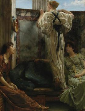 Inquisitive Artwork by Sir Lawrence Alma-Tadema