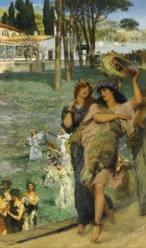 A Spring Festival Artwork by Sir Lawrence Alma-Tadema