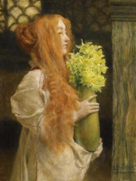 Spring Flowers Artwork by Sir Lawrence Alma-Tadema